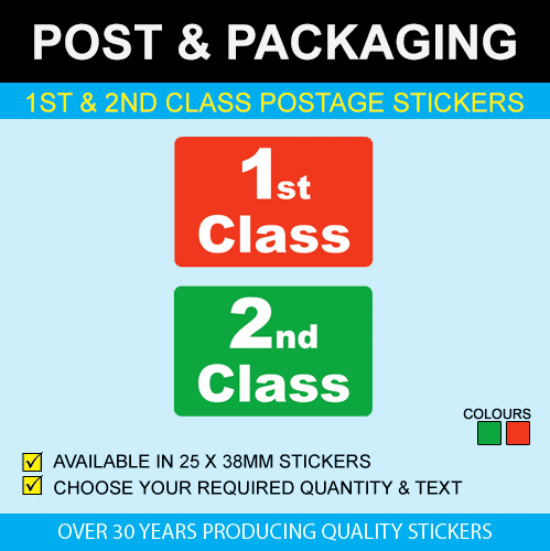 1st & 2nd Class Postage Stickers