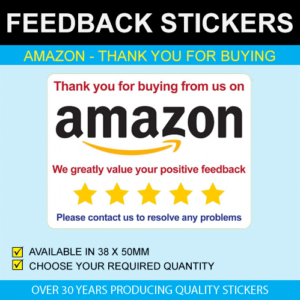 Amazon Feedback Stickers