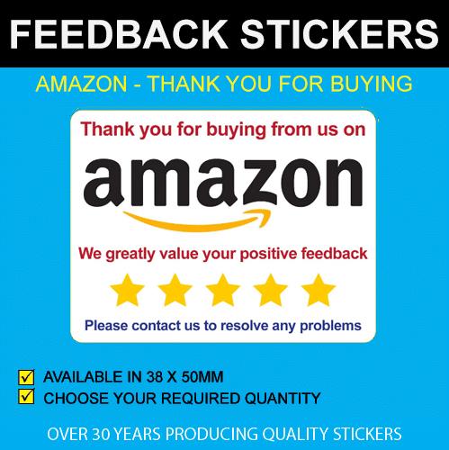 Amazon Feedback Stickers