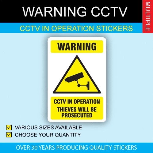 CCTV In Operation Stickers