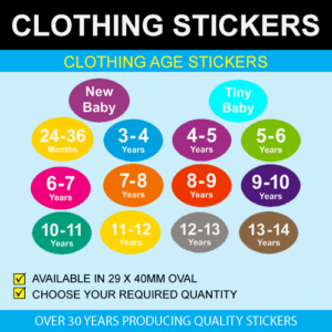 Clothing Age Stickers