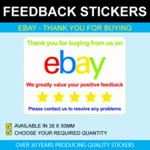 eBay - Thank You For Buying Stickers