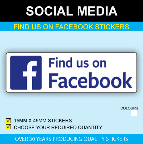 Find Us On Facebook Stickers