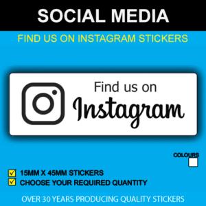 Find Us On Instagram Stickers