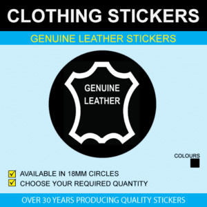 Genuine Leather Stickers