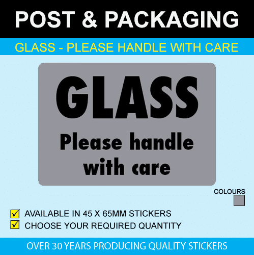 Glass - Please Handle With Care Stickers