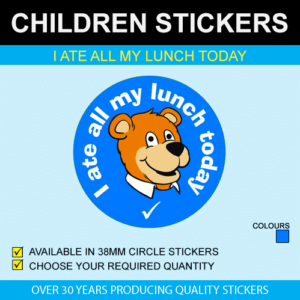I ate all my lunch today stickers