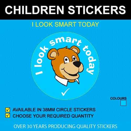 I Look Smart Today - Children's Stickers