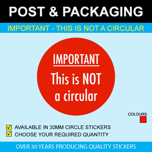 Important - This is not a circular Sticker