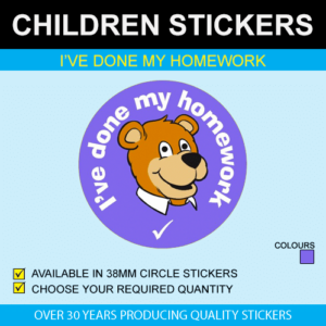 I've Done My Homework - Children's Price Stickers