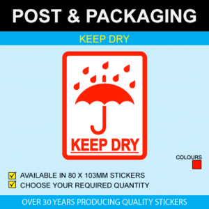Keep Dry Postal Stickers