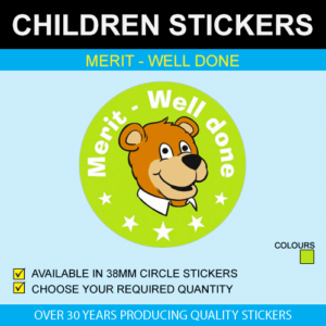 Merit - Well Done Children's Stickers