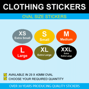 Oval Size Stickers