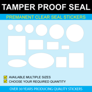 Permanent Clear Seal Stickers