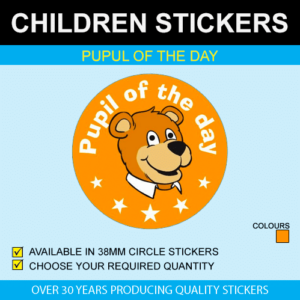 Pupil Of The Day - Children's Stickers
