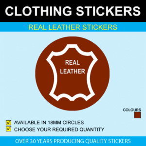 Real Leather Stickers