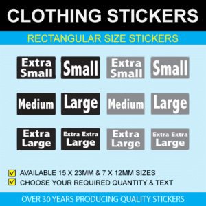 Rectangular Size Stickers