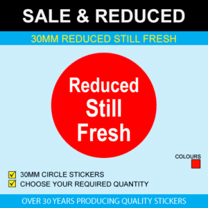 Reduced Still Fresh Stickers