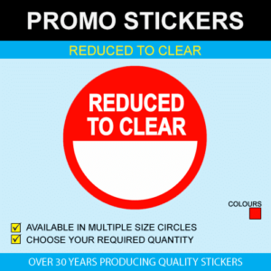 Reduced To Clear - Multi Size Stickers