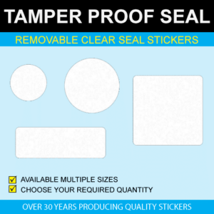 Removable Clear Seal Stickers