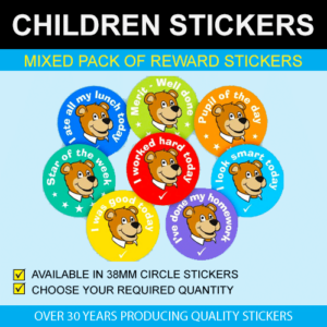 Mixed Pack of Children's Reward Stickers
