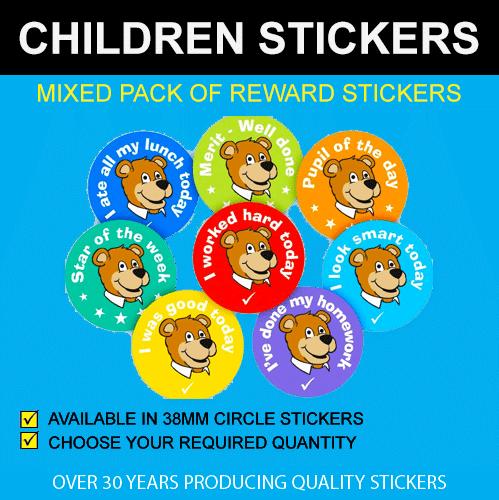 Mixed Pack of Children's Reward Stickers