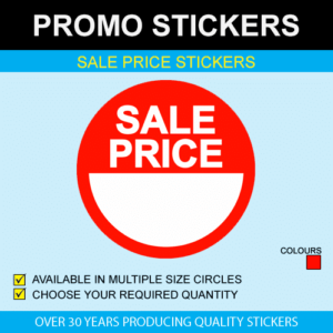 Sale Price Blank Stickers