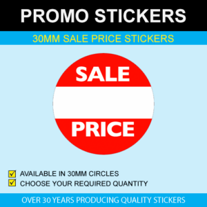 Sale Price White Band Stickers