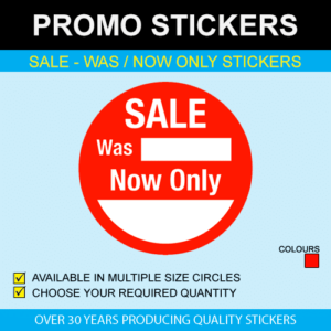 Sale - Was Now Only Stickers