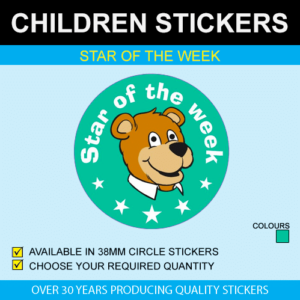 Star Of The Week - Children's Price Stickers
