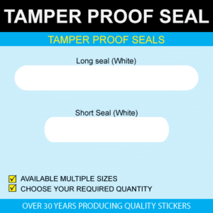 Tamper Proof Seal Stickers