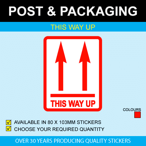This Way Up Postal Stickers