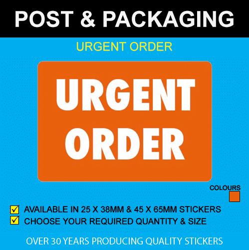 Urgent Order Postal Stickers