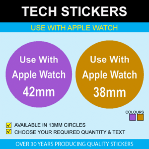 Use With Apple Watch Stickers