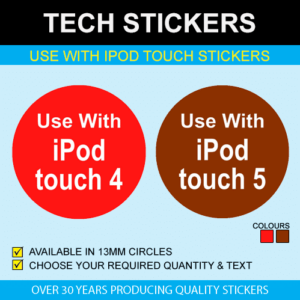 Use With iPod Touch Stickers