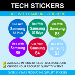 Use With Samsung Phone Stickers