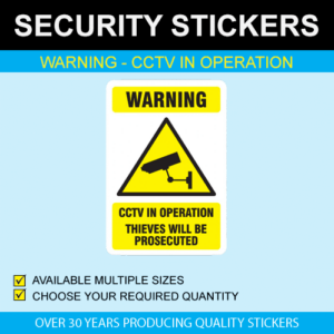 Warning - CCTV In Operation Stickers