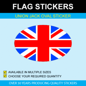 Union Jack Oval Stickers