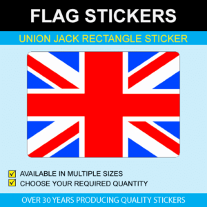 Union Jack Rectangle Stickers