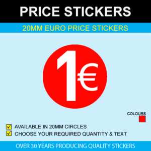 20mm Euro Price Stickers