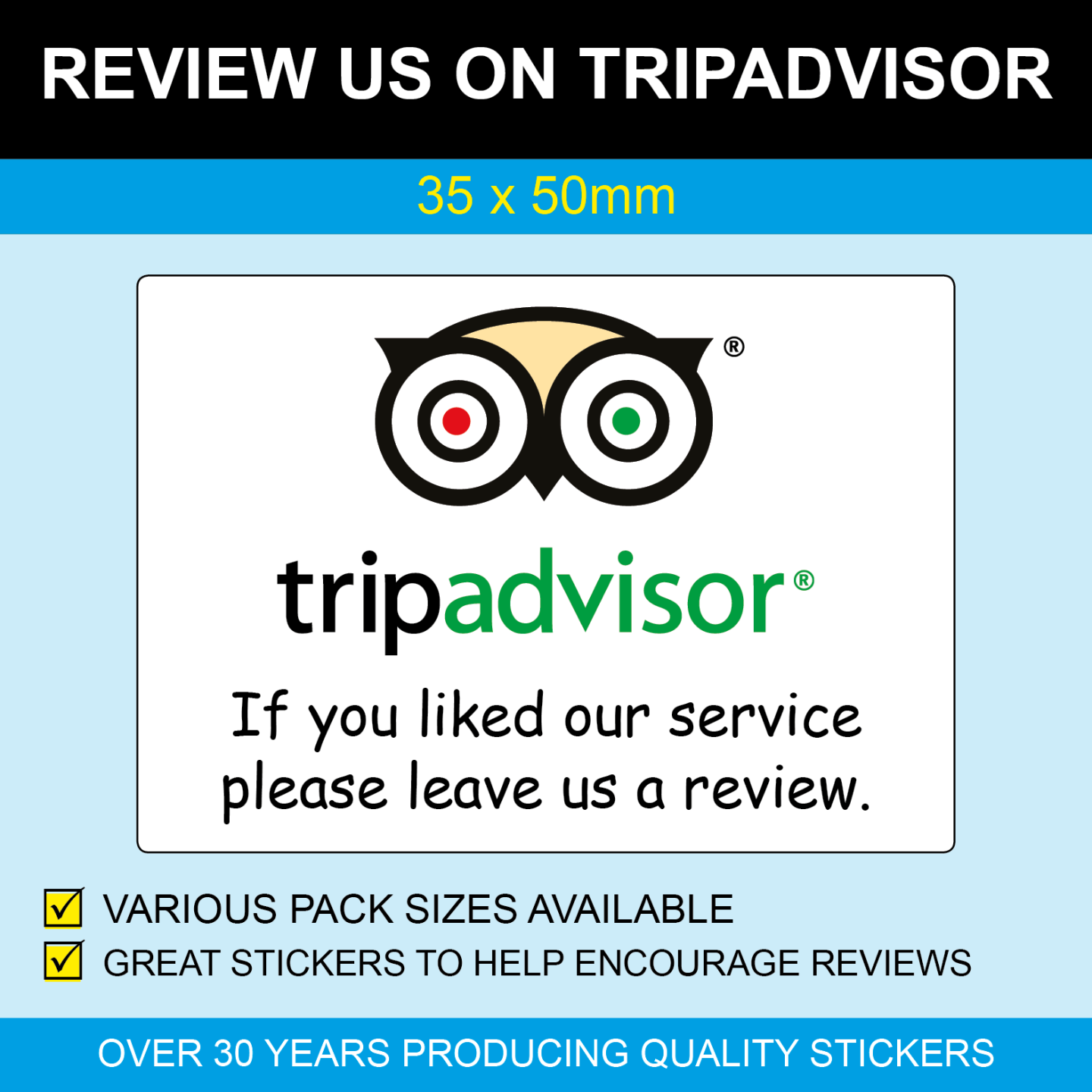 Review us stickers al review tools